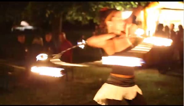 Dominika;Dominika dancing with fire.;20 Gothic Avenue
